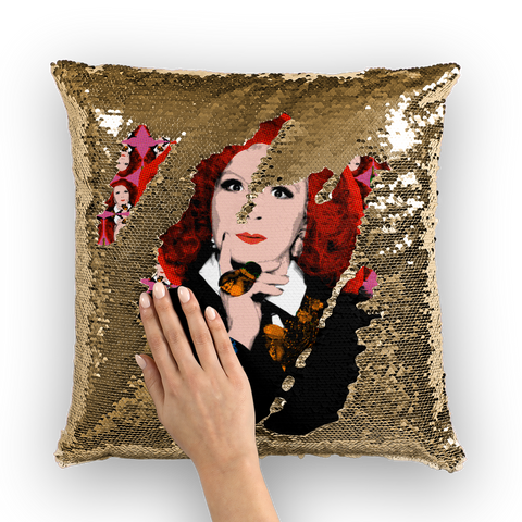 Ab Fab - Eddie Sequin Cushion Cover