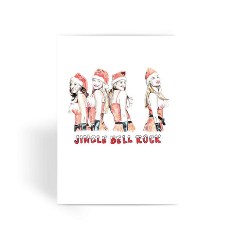 JINGLE BELL ROCK - BINGE X DEVIN WALLACE  Greeting Card