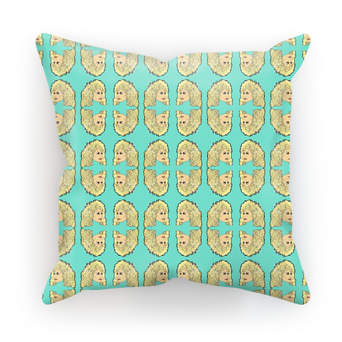 Dolly Mix Rhinestone Aqua Plain - XWayneDidIt Cushion Cover