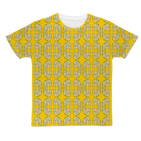 Dolly Mix Rhinestone Yellow Plain - XWayneDidIt Fashion Tee