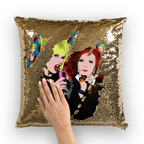 Ab Fab Sequin Cushion Cover