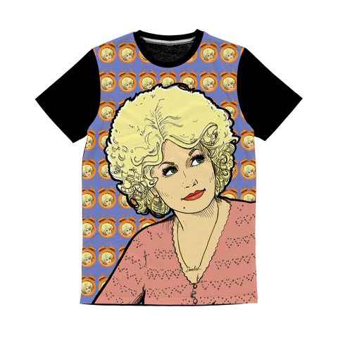 Dolly Mix 9 to 5 Electric Blue - XWayneDidIt Baseball Tee