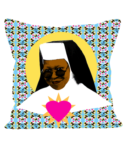 Sister Deloris - Linen Designer Throw Pillow