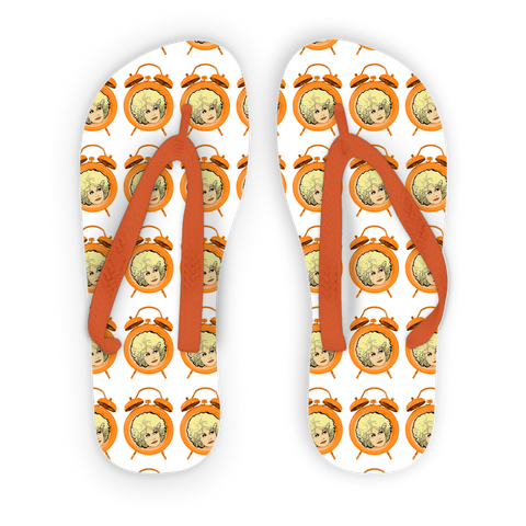 Dolly Mix 9 to 5 Plain - XWayneDidIt Adult Flip Flops