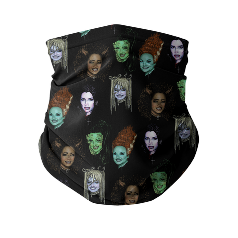Spice Ghoul - Black Fashion Neck Gaiter (Face Covering)