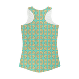 Dolly Mix Rhinestone Aqua - XWayneDidIt Women Performance Tank Top