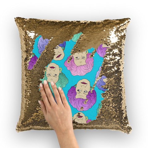 Pussy Slocombe - Robski X Binge Sequin Cushion Cover