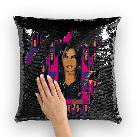 Aaliyah - X WayneDidIt Sequin Cushion Cover