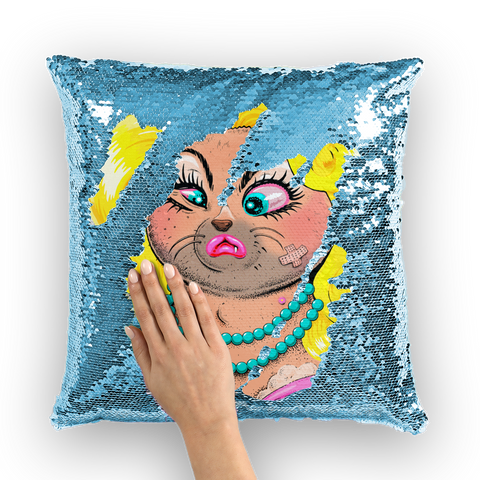 Drag Cat LWTCDI - Binge X Jock Mooney Sequin Cushion Cover