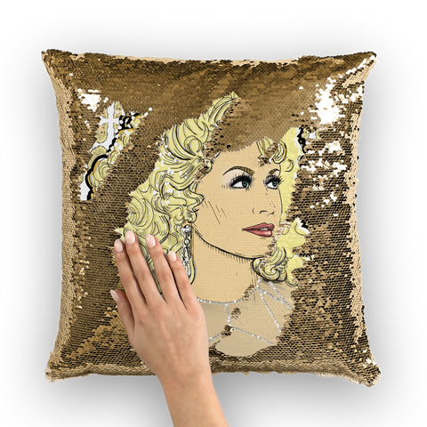 Dolly Mix Rhinestone - XWayneDidIt Sequin Cushion Cover