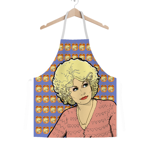 Dolly Mix 9 to 5 Electric Blue - XWayneDidIt Apron