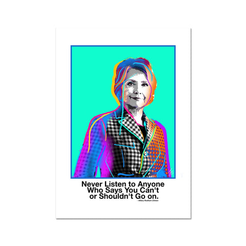 Fierce Political Women - Hillary Clinton Fine Art Print