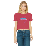 I'm Bored (Limited Edition) Classic Women's Cropped Raw Edge T-Shirt