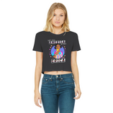 You Can't Spell America Without Erica Classic Women's Cropped Raw Edge T-Shirt