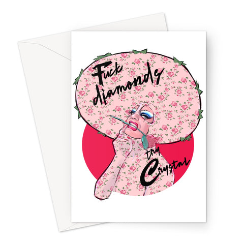 Crystal Official - Diamonds Greeting Card