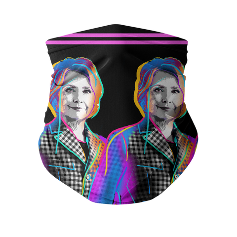 Fierce Political Women - Hillary Clinton Fashion Neck Gaiter (Face Covering)
