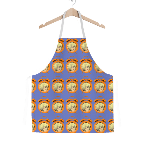 Dolly Mix Electric Blue Plain - XWayneDidIt Apron