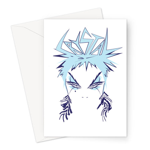 Crystal Official Ice Blue Greeting Card