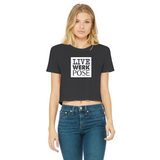 Pose - Category Is Classic Women's Cropped Raw Edge T-Shirt