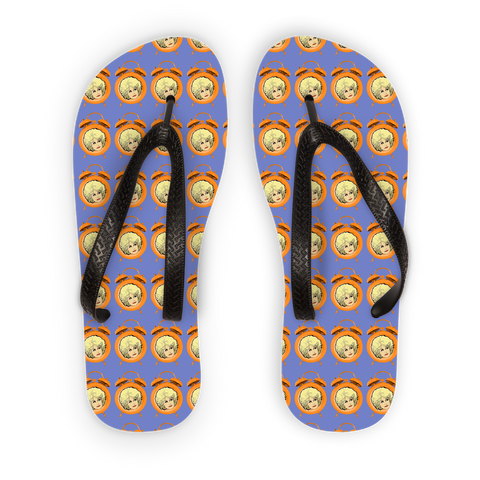 Dolly Mix Electric Blue Plain - XWayneDidIt Adult Flip Flops