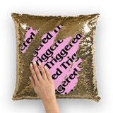 Triggered Sequin Cushion Cover