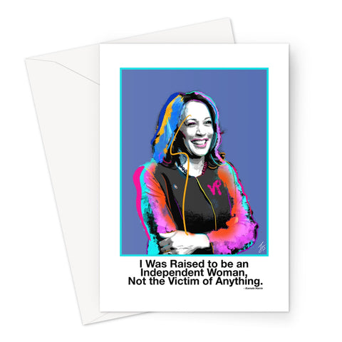 Fierce Political Women - Kamala Harris Greeting Card