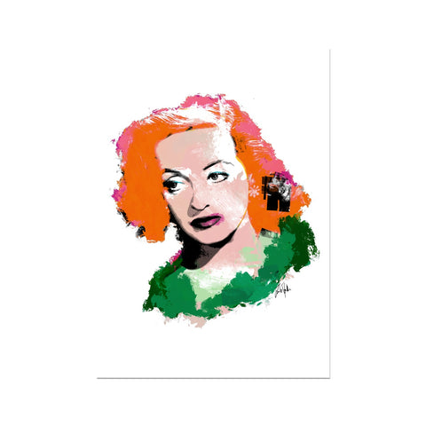 Hollywood Greats - Bette Fine Art Print