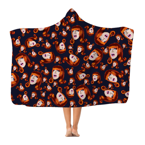 Coco Puff (Blue) - Miss Coco Peru X Binge (Limited Edition) Classic Adult Hooded Blanket