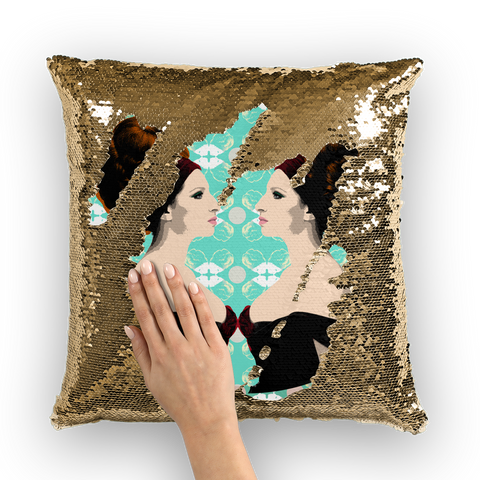 Barbra Streisand Sequin Cushion Cover