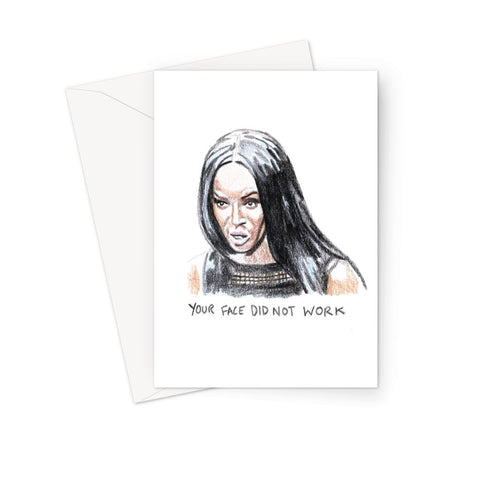 Face Beauty Face - Devin Wallace X Binge Greeting Card