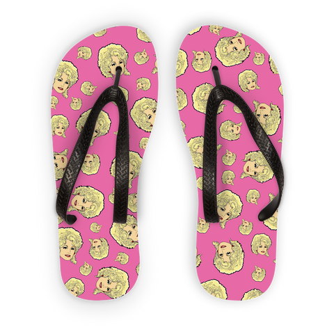 Dolly Mix - XWayneDidIt Adult Flip Flops