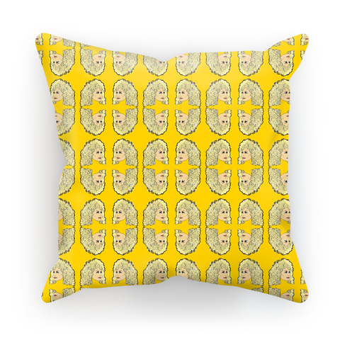 Dolly Mix Rhinestone Yellow Plain - XWayneDidIt Cushion Cover