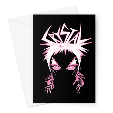 Crystal Official Pink Greeting Card