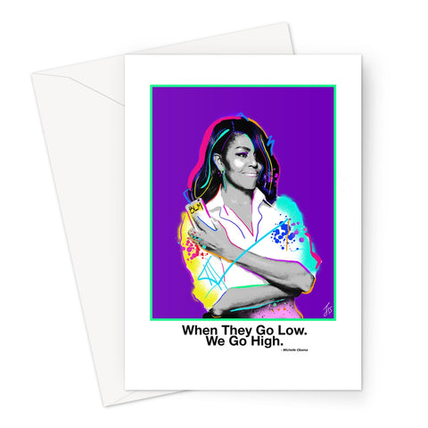Fierce Political Women - Michelle Obama Greeting Card