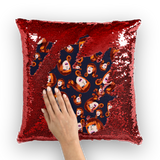 Coco Puff (Blue) - Miss Coco Peru X Binge (Limited Edition) Sequin Cushion Cover