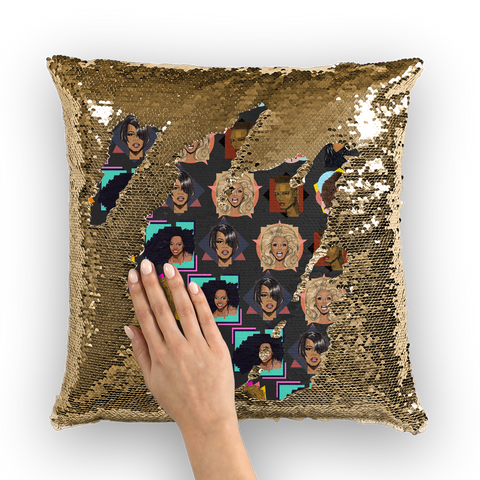 Diva Icons (Limited Edition) - X WayneDidIt Sequin Cushion Cover