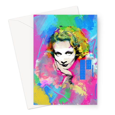 Hollywood Greats - Marlene Greeting Card