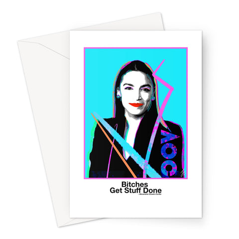 Fierce Political Women - A.O.C. Greeting Card