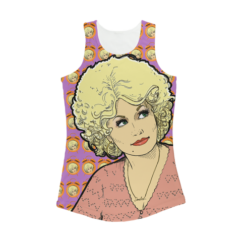 Dolly Mix 9to 5 Fuchsia - XWayneDidIt Women Performance Tank Top