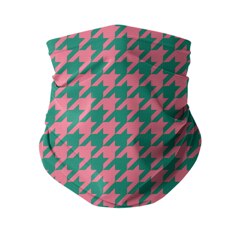 Celeb Houndstooth Fashion Neck Gaiter (Face Covering)