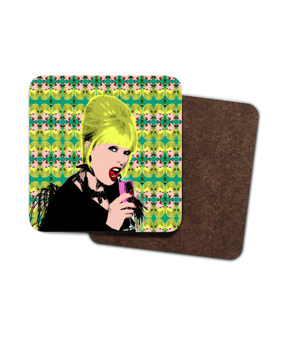 Patsy Ab Fab Single Hardboard Coaster