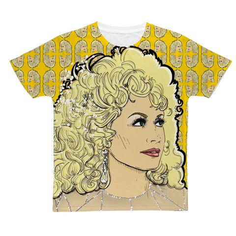 Dolly Mix Rhinestone Mustard - XWayneDidIt Fashion Tee