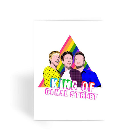 Queer as Folk - Canal Street Greeting Card