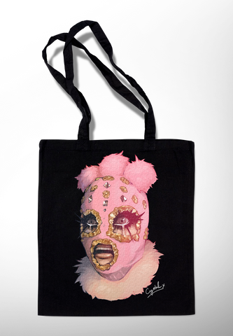 Crystal Official Facekini Shopper Tote Bag