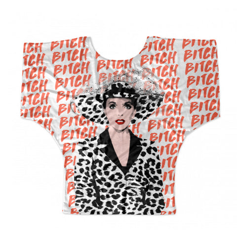 TV Queens - Joan Collins Dynasty Bitch Fashion Batwing Tee