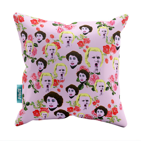 Mommie Dearest Rose Bush Throw Pillow