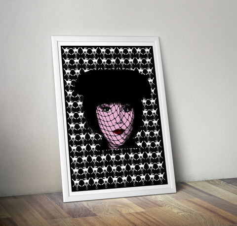Clue - Mrs White (Black) Art Print