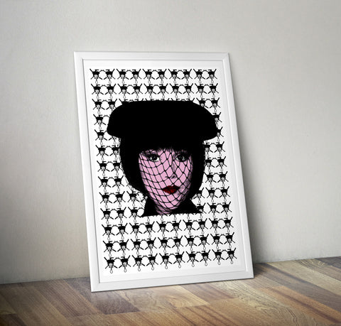 Clue - Mrs White (White) Art Print