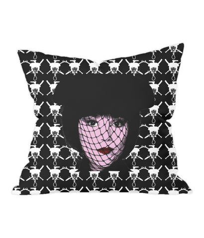 Clue - Mrs White (Invert) Throw Pillow