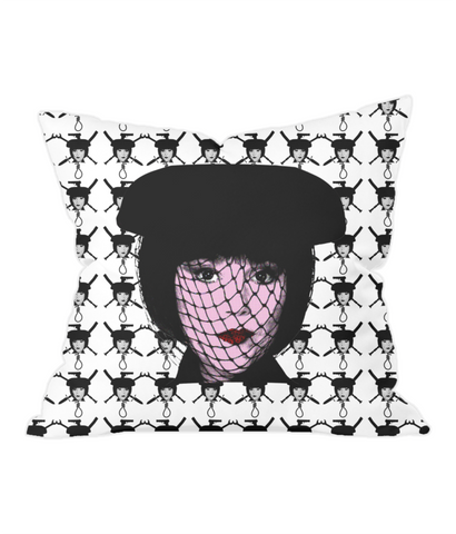 Clue - Mrs White Throw Pillow